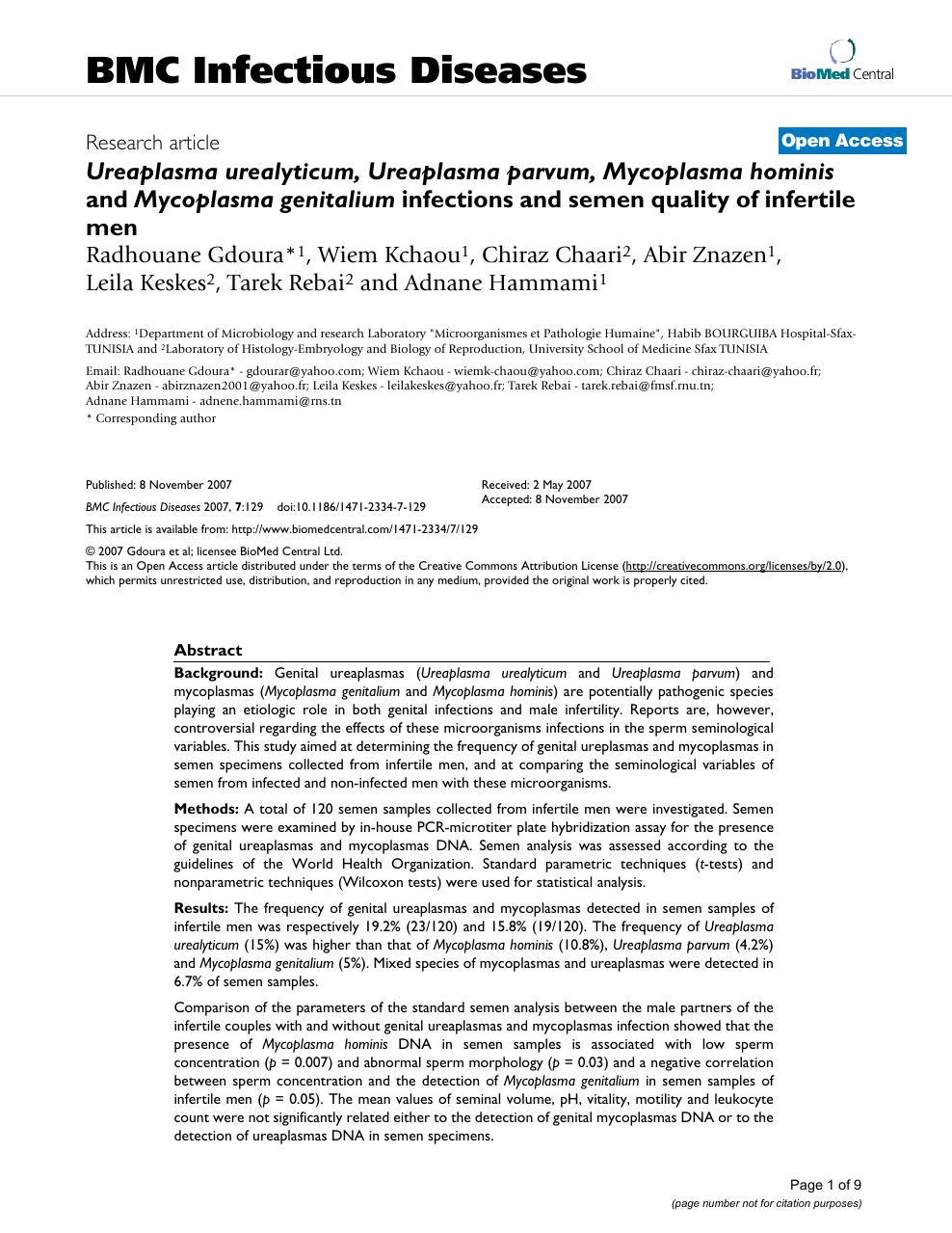 Ureaplasma és Mycoplasma fertőzések – Biztonsájazzpub.hu